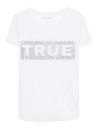 TRUE RELIGION Boxy Crew Glitter White