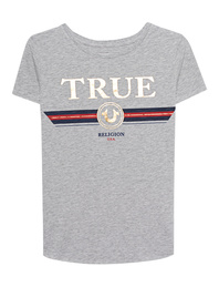 TRUE RELIGION Boxy Crew Artwork Grey