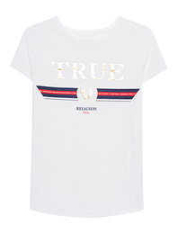 TRUE RELIGION Boxy Crew Artwork White