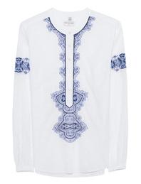 TRUE RELIGION Festival Embroidery White