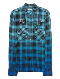 TRUE RELIGION Check Laguna Blue