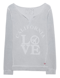 TRUE RELIGION Fleeced Sweater Cali Love Highrise