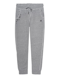 TRUE RELIGION Destroyed Relax Pant Dark Marl