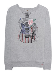 TRUE RELIGION Sweater Guitar Grey Melange