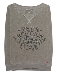 TRUE RELIGION Sweater Artwork Dusty Olive