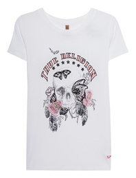 TRUE RELIGION Butterfly Skull White