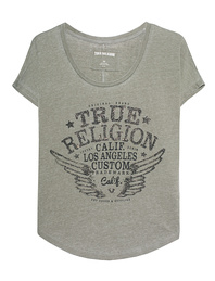 TRUE RELIGION Collar Shirt Artwork Dusty Olive