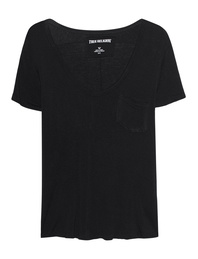 TRUE RELIGION Deep V-Neck Black