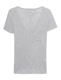 TRUE RELIGION Deep V-Neck Grey Marl