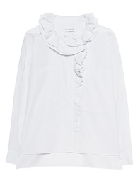 FAITH CONNEXION Oversize Ruff Shirt White