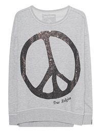 TRUE RELIGION Peace Sparkle Grey