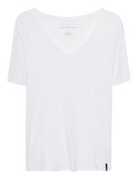 TRUE RELIGION Stripes Shirt V White