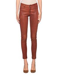 TRUE RELIGION Super Stretch Leather Pant Cognac