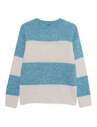 TRUE RELIGION Stripe Knit Blue Off-White