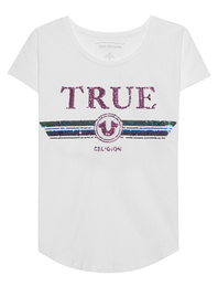TRUE RELIGION True Multicolor Sequins White