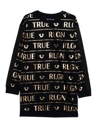 TRUE RELIGION Dress Print Black