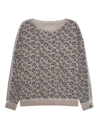TRUE RELIGION Sweater Leo Print Beige