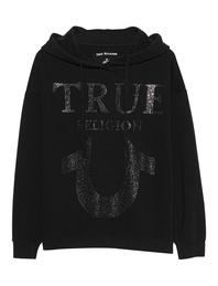TRUE RELIGION Chrystal Horseshoe Hood Black