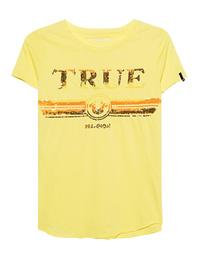TRUE RELIGION Round Sequins Yellow