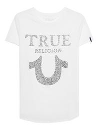 TRUE RELIGION Chrystal Horseshoe White