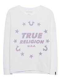 TRUE RELIGION Sweater Stars White