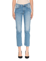 TRUE RELIGION Highrise Straight Cropped Blue