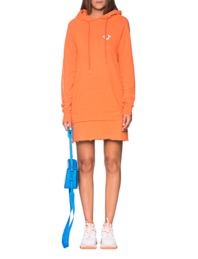 TRUE RELIGION Hood Dress Orange