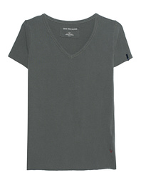 TRUE RELIGION Cut Out V Neck Olive