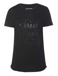 TRUE RELIGION Boxy Rhinestones Black