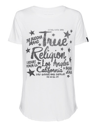 TRUE RELIGION Boxy Rhinestones White