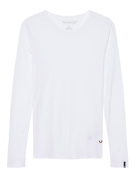 TRUE RELIGION Basic Long Crew Neck White