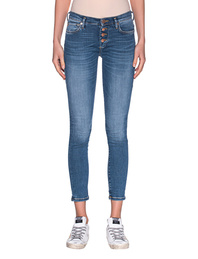 TRUE RELIGION Halle Button Fly Crop Blue