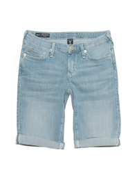 TRUE RELIGION Bermuda Halle Light Denim Blue