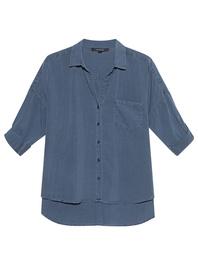 TRUE RELIGION 3/4 Sleeve Shirt Blue Fade