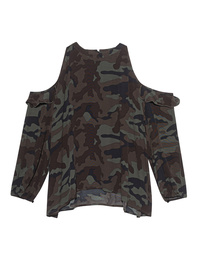 TRUE RELIGION Shoulder Camouflage Multicolor