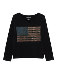 TRUE RELIGION American Flag Black