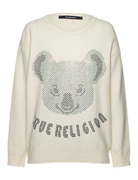 TRUE RELIGION Oversize Koala Off White