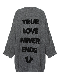 TRUE RELIGION True Love Oversize Grey Melange