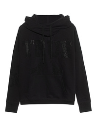 TRUE RELIGION Boxy True Rhinestones Black