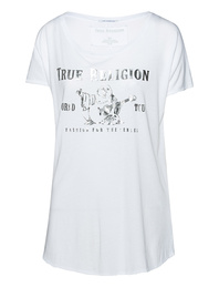 TRUE RELIGION Crew Neck Shine White