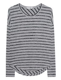 RAG&BONE Hudson Striped Heather Grey