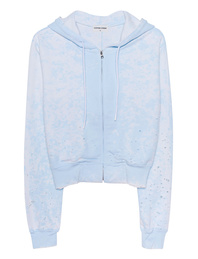 Cotton Citizen Milan Crop Zip Lightblue