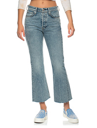 RAG&BONE Maja High-Rise Cropped Flare Blue