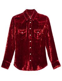 Cout de la Liberte Western Shirt Velvet Red