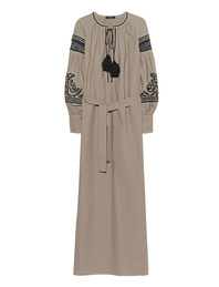 Wandering Embroidery Long Tunic Sand
