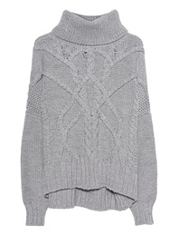 THOM KROM Cable Knit Light Grey