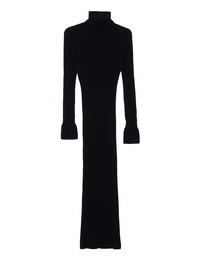 JACOB LEE Cashmere Maxi Ribbed Black