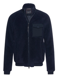 WOOLRICH Bomber Merino Wool Blue