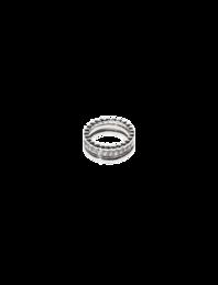 BRONZALLURE Set of Three Textured Silver