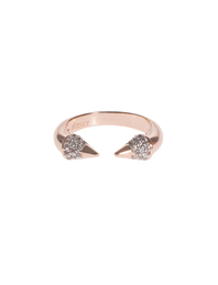BRONZALLURE Shiny Arrows Ring Rose Gold